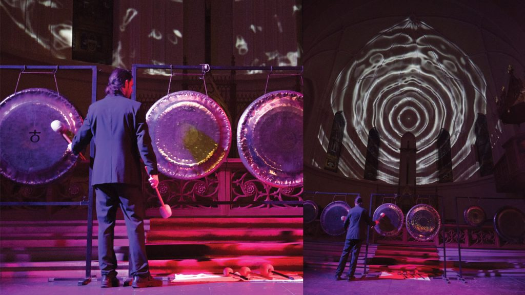 """""""Sounds of the Universe"""" concert with gongs & organ"""