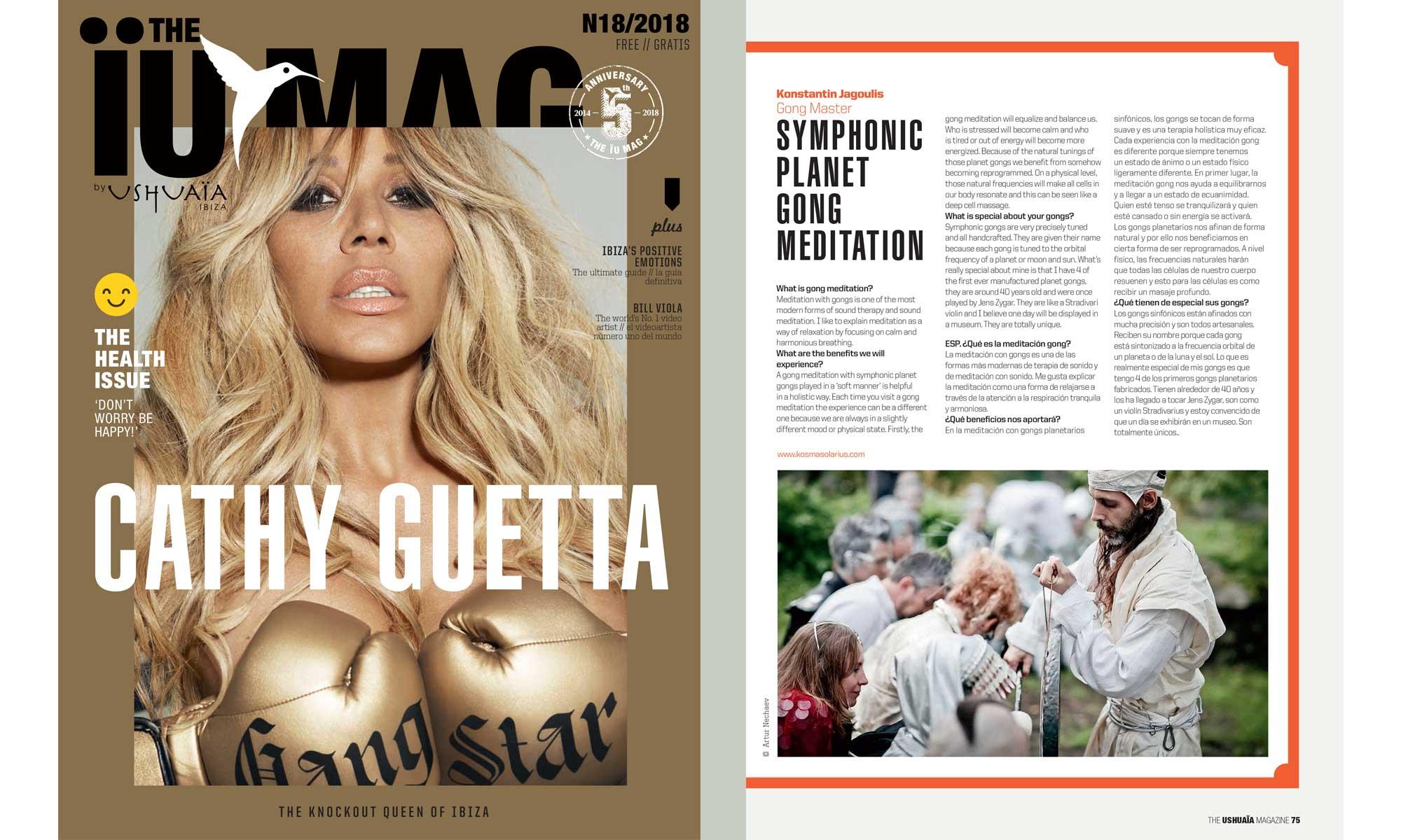 Gong Master in Ushuaïa Magazine 18/2018